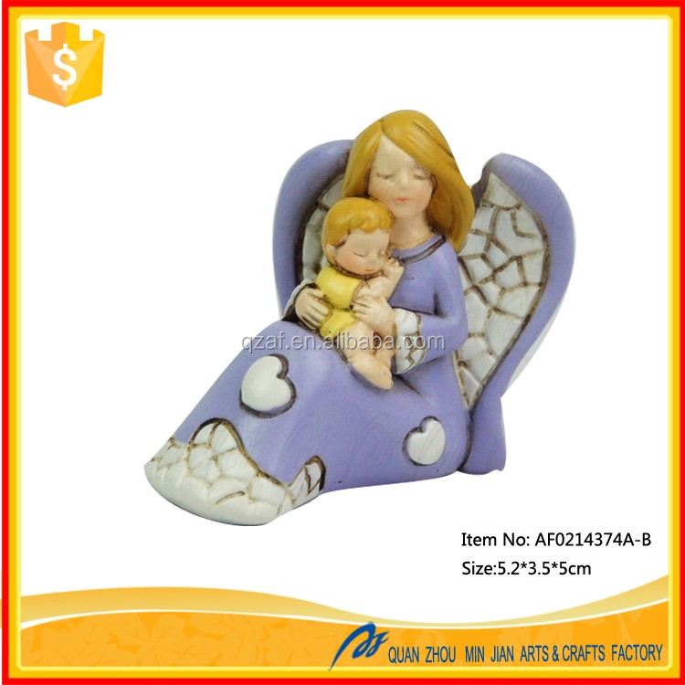 Europe Country Style Souvenir Resin 3D Angel Figurine