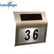 High Quality Stainless Steel Solar Powered House Number Light LED Illumination Doorplate Lamp Outdoor Wall Light