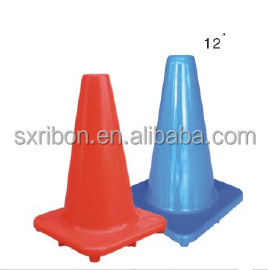 environmental plastic 12 inch flexible traffic cone for sale