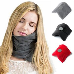 Comfort Travel Scarf Pillow Neck Cushion Portable Airplane Home Office Neck Head Rest Nap Sleep Massage Pillows