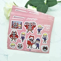 Adhesive Paper Kiss Cut Cartoon Promotional Custom Sticker Sheet