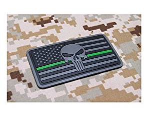 Buy The Thin Green Line Devgru Seal Team Punisher American Flag 3d Pvc Morale Patch Hook Backing In Cheap Price On Alibaba Com