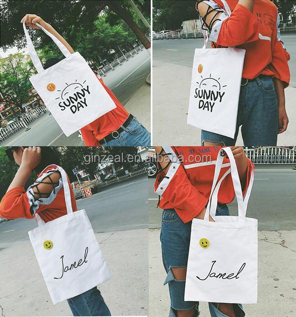 c07395cfa8 2016 Fashion Novelty Canvas Cotton Tote Bag For Women Shopping