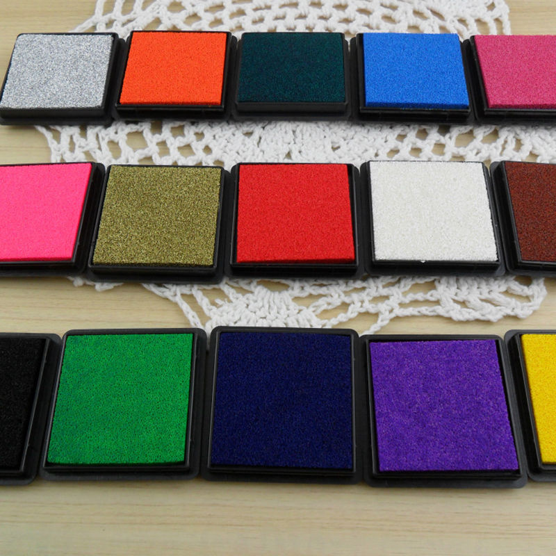 12 Colors Durable DIY Craft Oil Based Ink Pad Print For