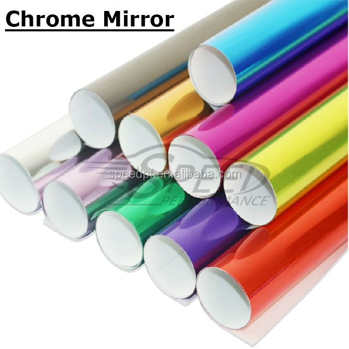 High performance shiny glossy mirror reflective car vinyl chrome wrap