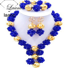 African beads jewelry set nigerian wedding gold plated gemstone ring