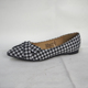 China Women New Design Fancy elegant bow fluff check shallow mouth flat shoes