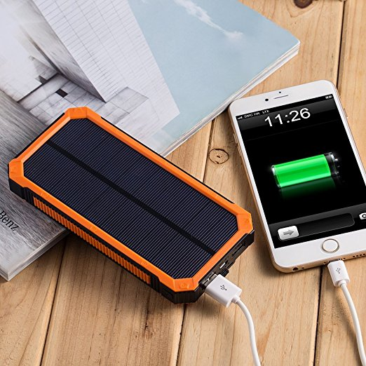 Factory Portable charger Solar Power Bank for smartphone