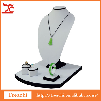 Simple Classic Jewelry Necklace Bracelet Watch Ring Display Stand Set Jewellery Window Showcase