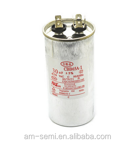 CBB65 air conditioning capacitor 30UF 450V compressor start electrolytic capacitor