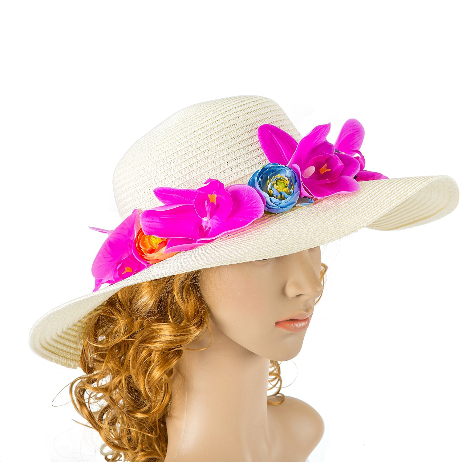 0a28adcb Get Quotations · Off White Wedding Hat with orchid Flower and Bow Kentucky  Derby Hat Wedding Accessory Cocktail Hat