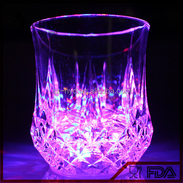 Party Decoration LED Flashing Acrylic Glass Cup