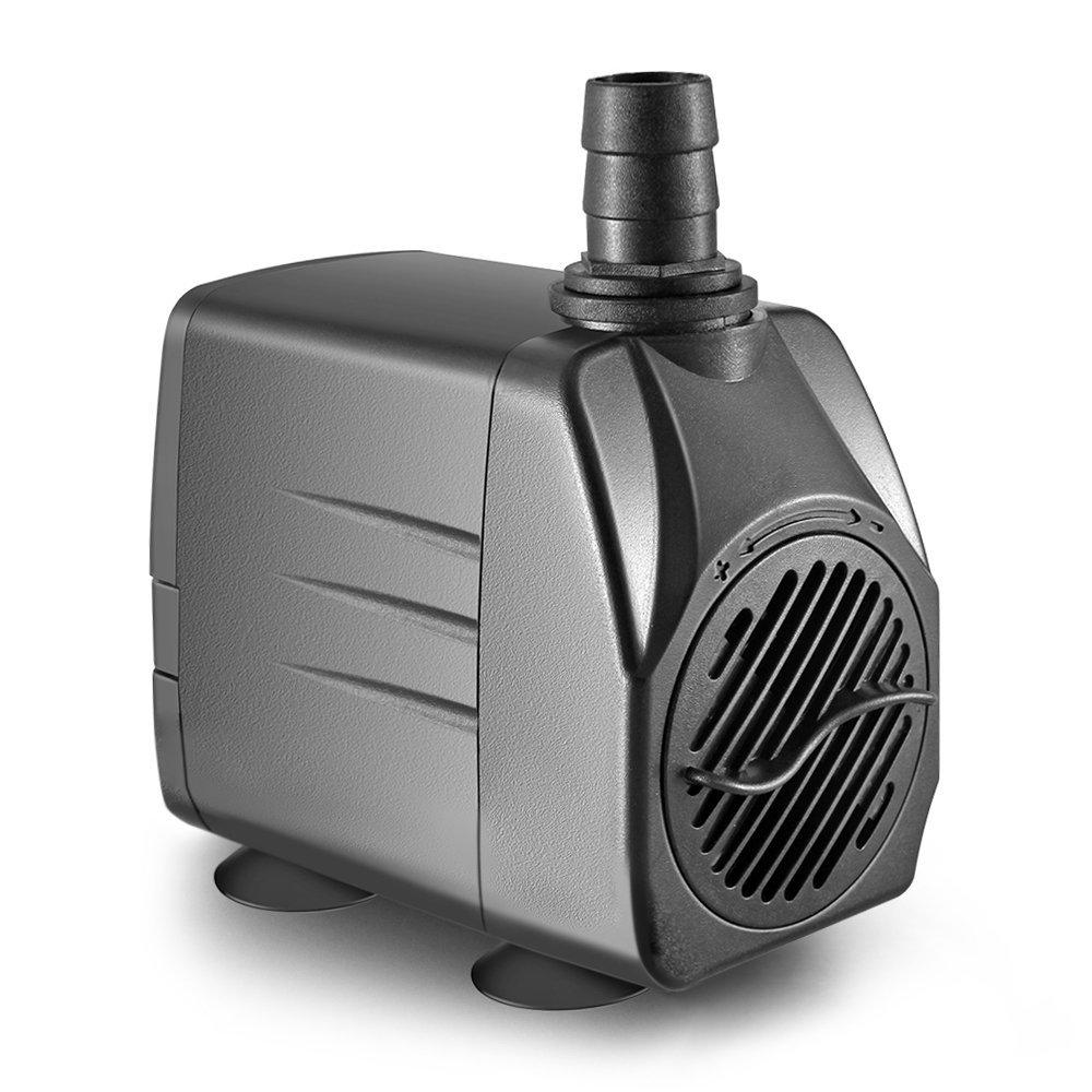 Obvis 265 GPH Submersible Pump Indoor Outdoor Water Fountain Pond Aquarium Quiet US Plug
