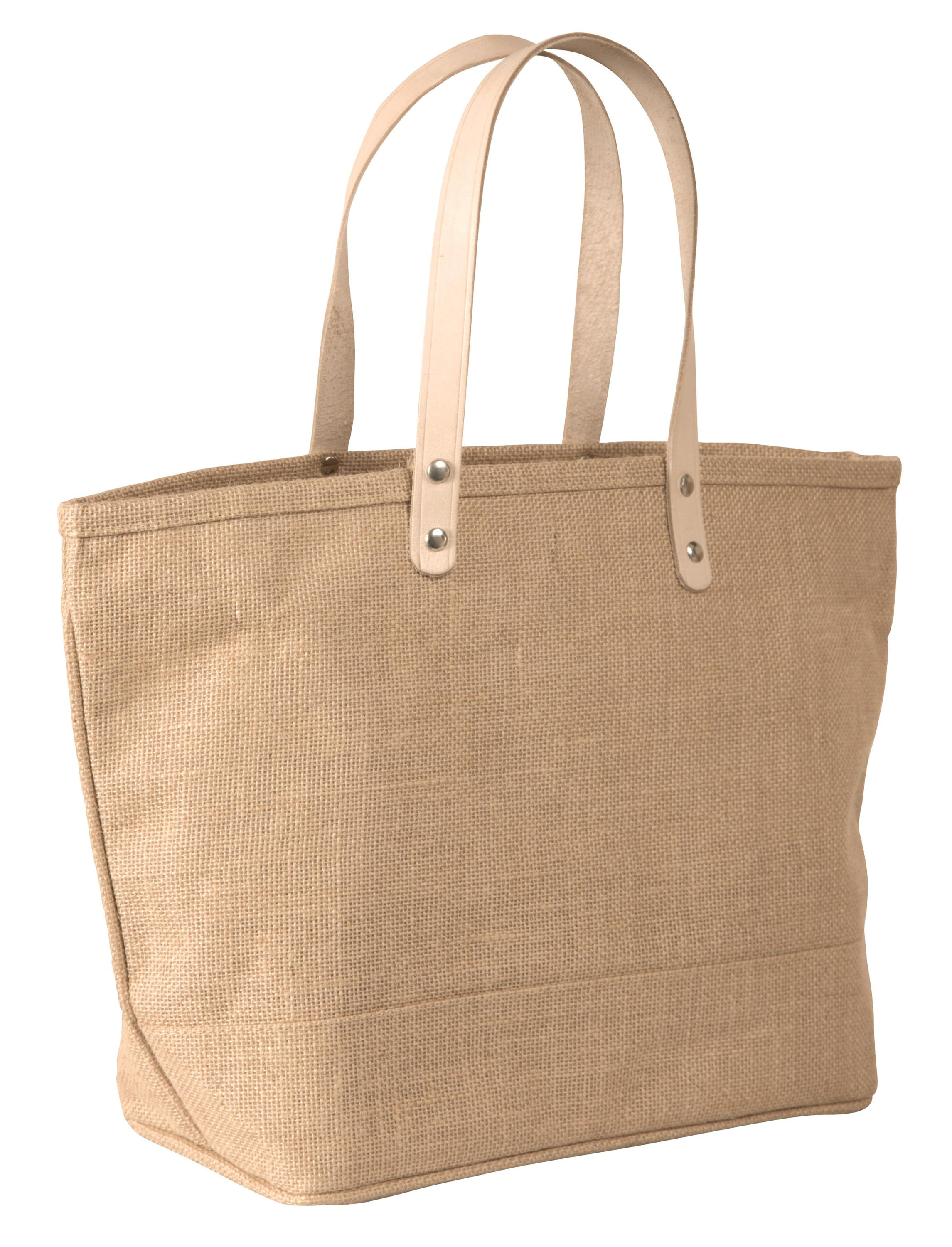Large Jute Burlap Tote Bag With Leather Handles Plain Bags Product On Alibaba