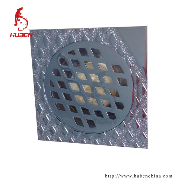 china product square 10x10cm zinc floor drain