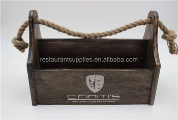 Rubber Wood Storage Box Tin For Condiment Display Dining Table Caddy Cutlery Product On Alibaba