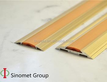 Aluminium Anti Slip Transition Strip With Rubber Floor Trim For Decoration
