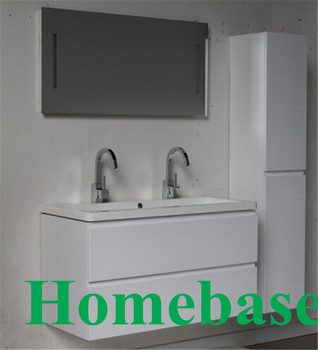 Mdf White Painted Particle Board Side Good Price Bathroom Vanities With Mirror Cabinet