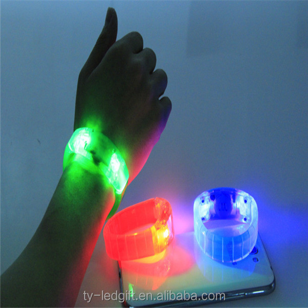 Sound Led Wristband Remote Control Concert Event Led Lighting ...