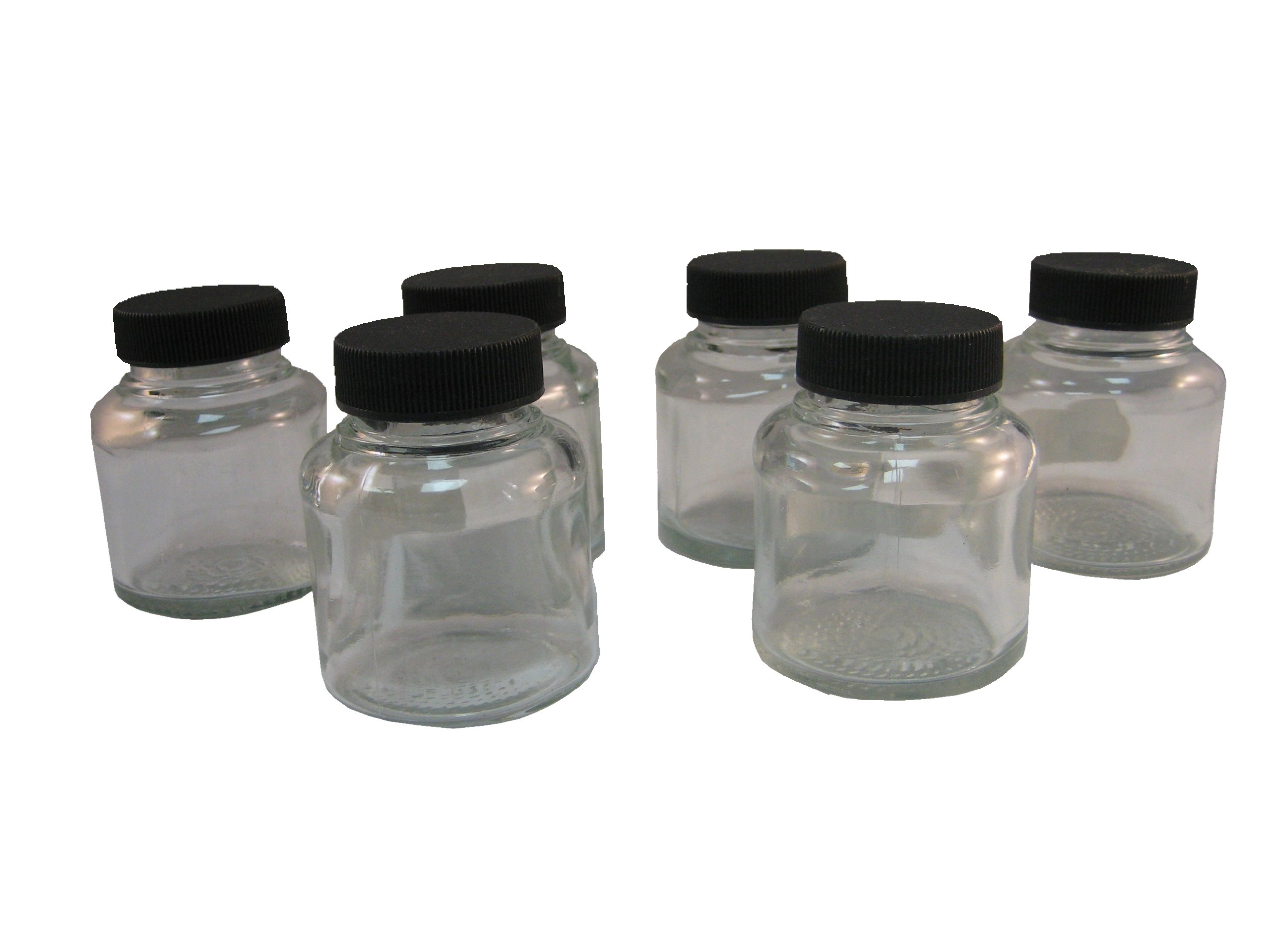Badger Air-Brush Co. 50-0053B 2-Ounce Jar and Cover, Box of 6