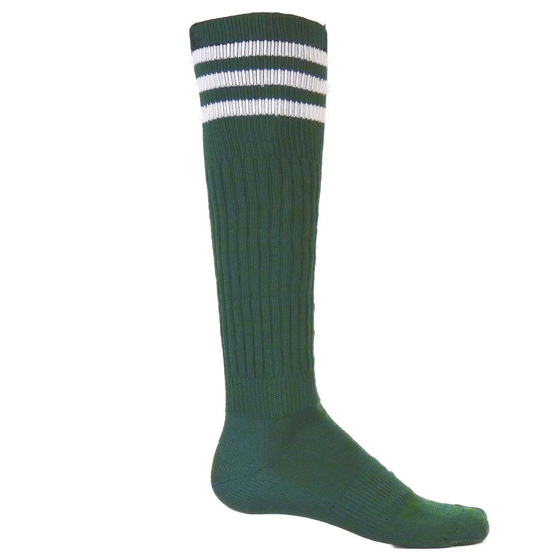 Red Lion Mach III Athletic Sport Wear High Knee Socks ( Kelly / White - Medium )