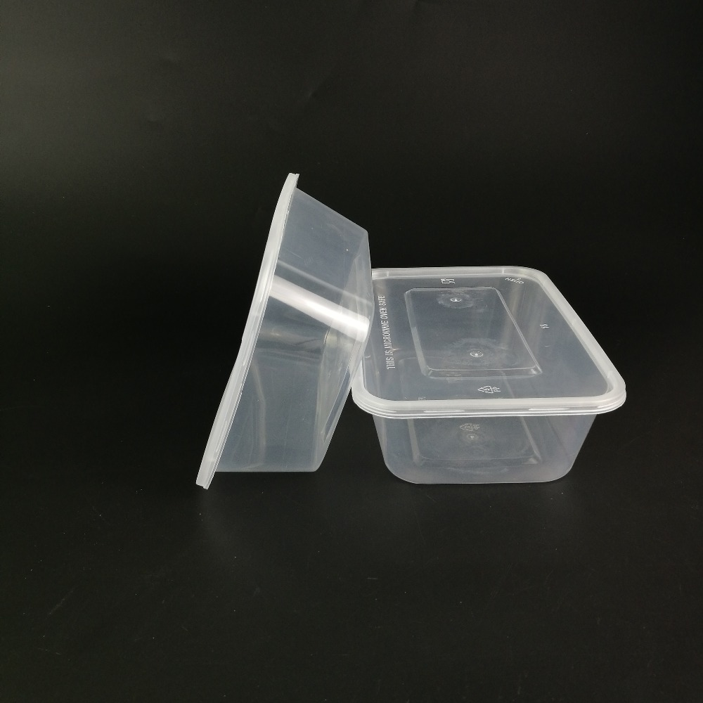 Environment friendly clear plastic small round storage box