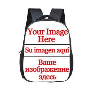 Customized Mini School Backpack For Children Custom Your Photo Kids Small Bag 12 Inch Backpacks Kids School Book Bag Gift