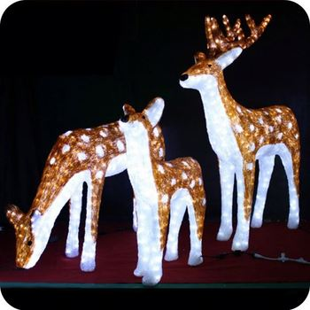 Reindeer Xmas Decorations Outdoor Lit