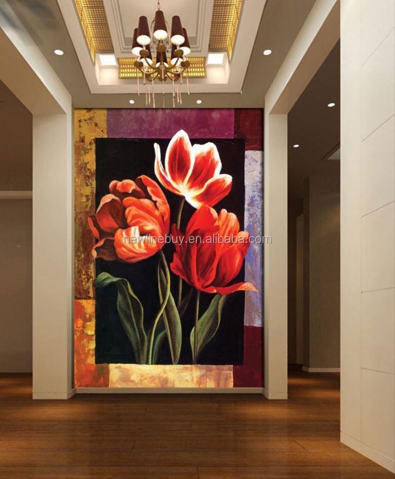 3d pittura a olio europea fiori vendita calda alba moderna casa ...