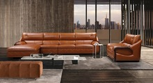 Modern Design Top Grain Leather Sectional Sofa Furniture