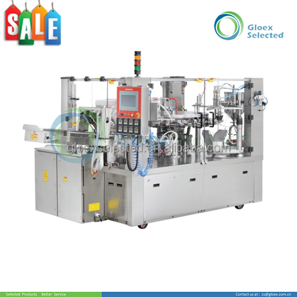 T Automatic Rotary Type Double Lanes Premade Pouch Filling Machine