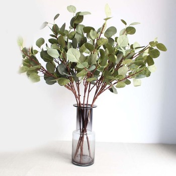 2020 hot sale Artificial eucalyptus plants real touch grass Plastic flower stems Artificial eucalyptus leaf for home decor