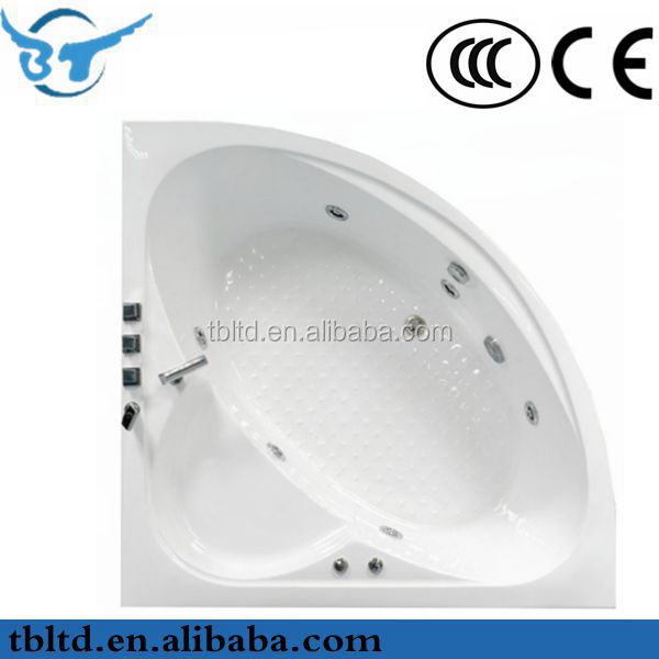 2014 new products Seasummer Acrylic skirt bathtub for hotel project with mix valve shower