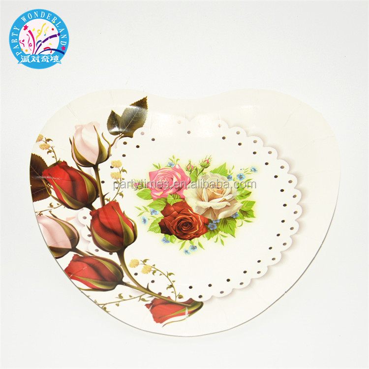 Professional party decoration dish pizza plate bulk dinner offset printing frozen paper plate