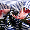 High quality beautiful printed flower designs pure bubble crepe jacquard fabric composition