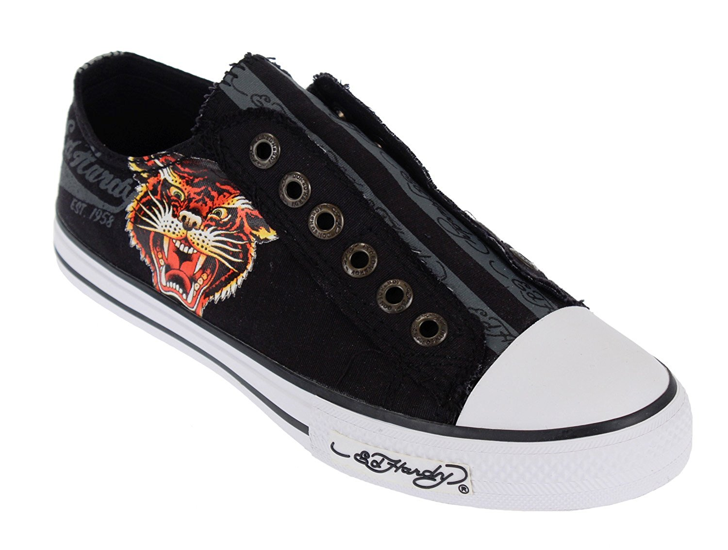 Get Quotations · Ed Hardy LR 500 Kids Canvas Top Sneaker Shoes