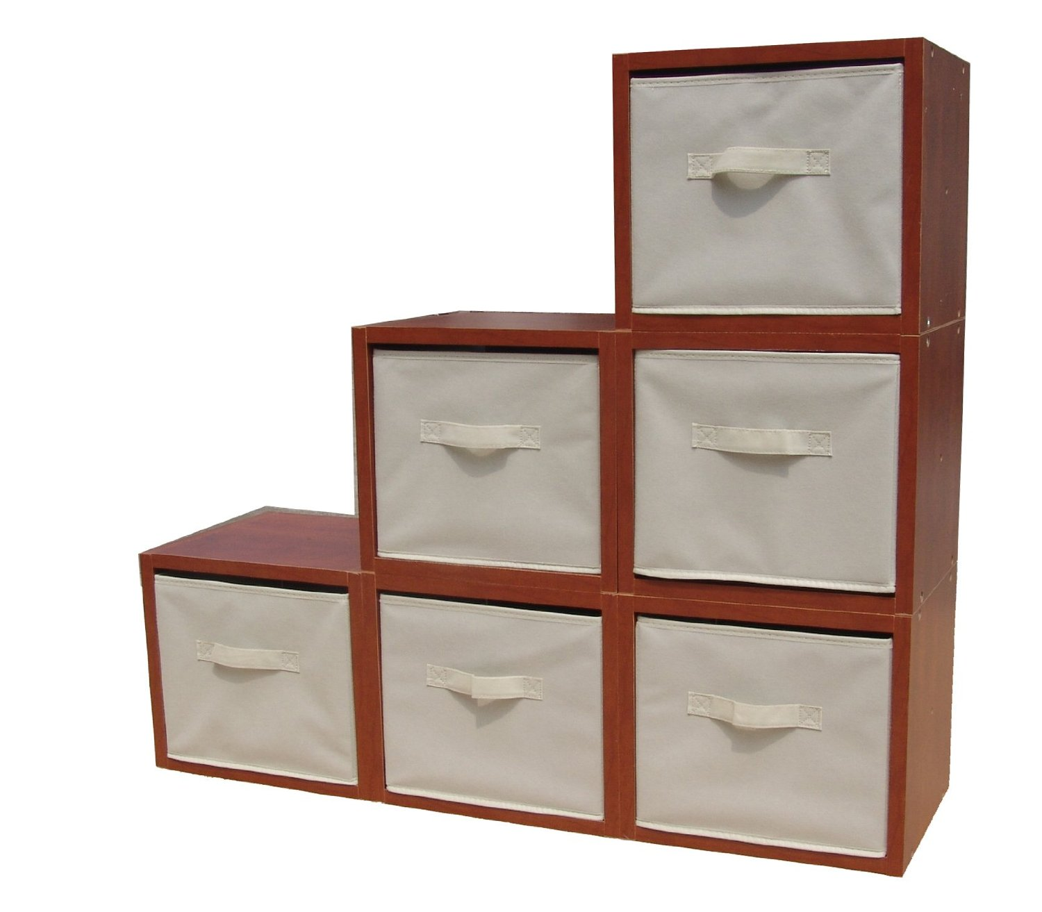 Etonnant Get Quotations · FixtureDisplays Cubby Hole Storage Bin Modular Wood Blocks  With Fabric Bins 6/Set 11364 11364