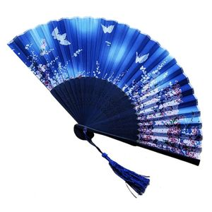 Hot selling nice quality Japan decor bamboo fabric silk fan for events