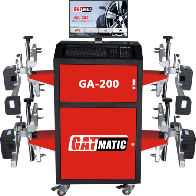 يناسب جميع أنواع المصاعد 3d جهاز محاذاة العجل/موازنة العجلات و موازنة آلة