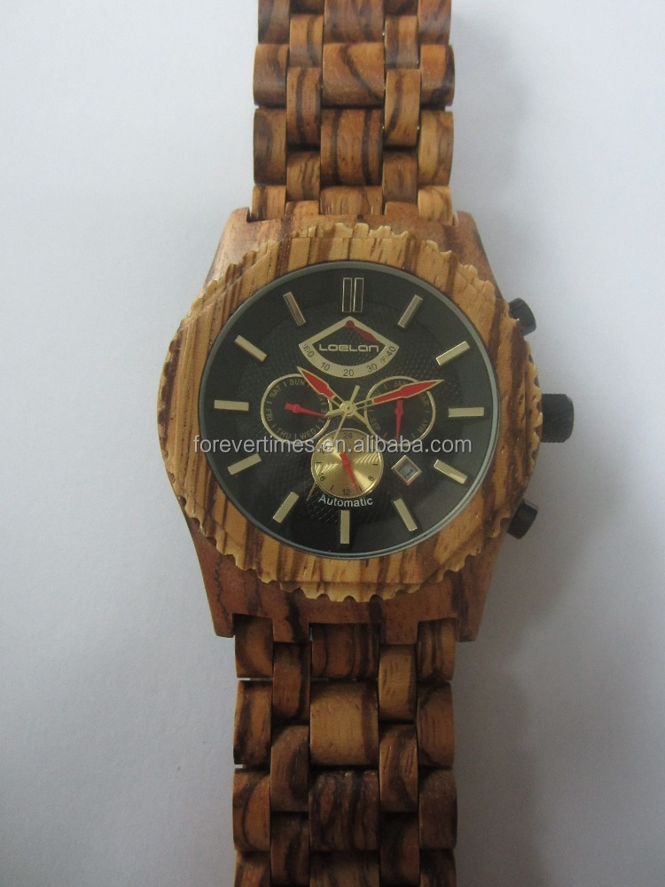 High quality Natural wood watch, automatic wood watch wtih custom logo