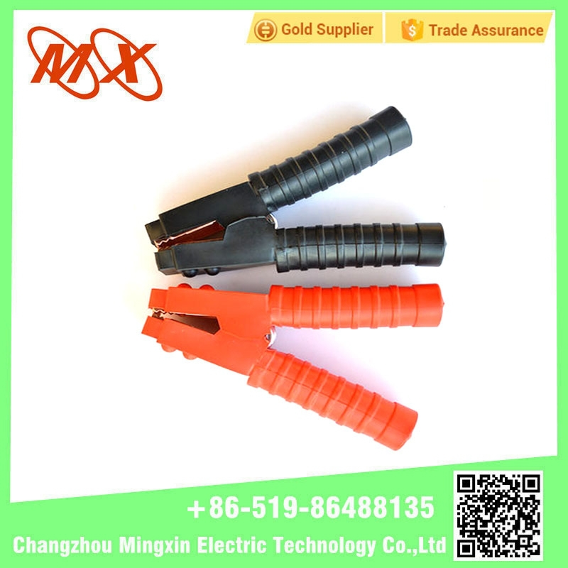 China car battery charger / battery terminal clamp with copper plated alligator clips