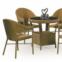Lasting wicker rattan dining royal garden outdoor teak furniture