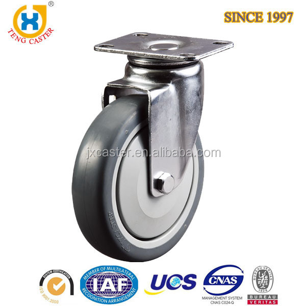 6 inch industry caster with Side break caster wheel