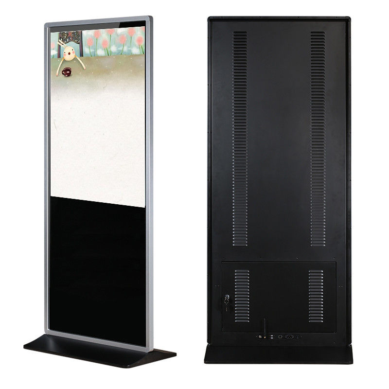 55 inch floor stand touchscreen lcd tv digital signage reclame display