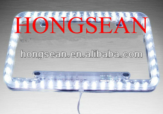 AUTO led license plate frame USA SIZE