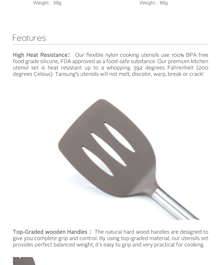 Food Grade Nylon Kitchen Utensils Nylon Cooking Utensils