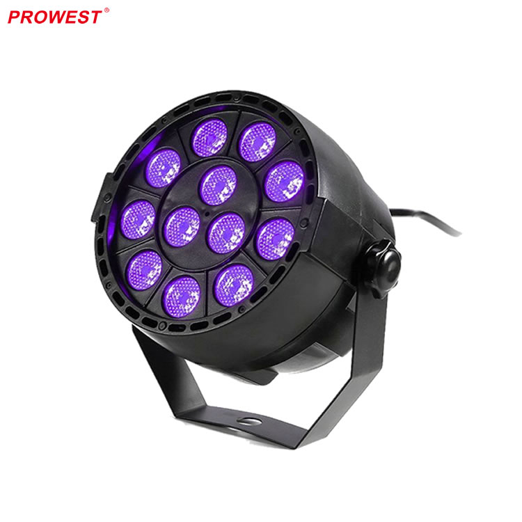 cheapest mini 12*3W plastic Par can black light wash LED UV light For Home Party night club and stage