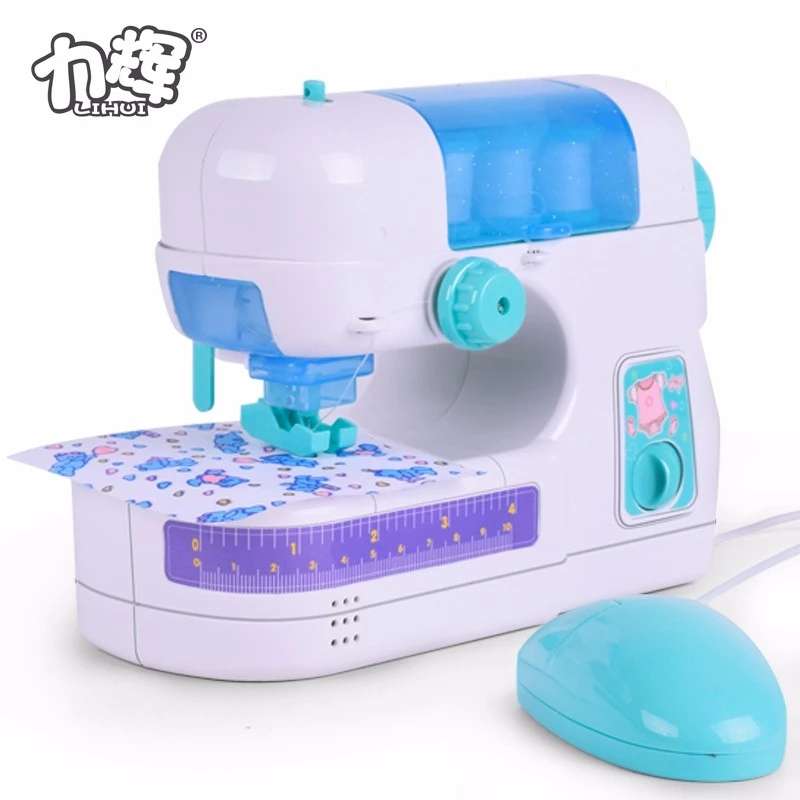Mini Battery Operated Electric Mini Sewing Machine Toy Pretend Toys For Kids