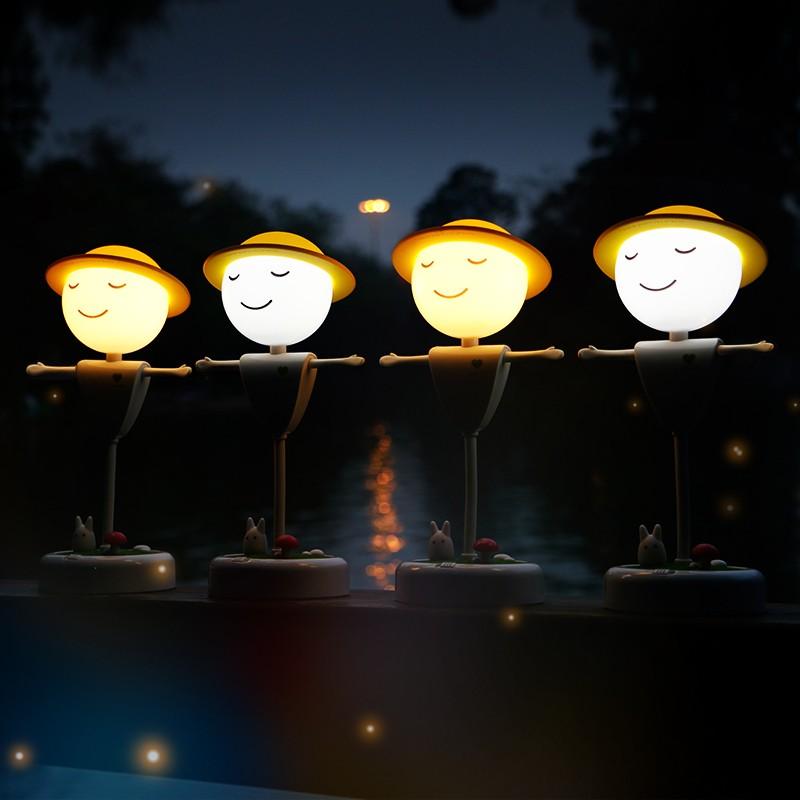 Bedroom Cartoon Led Sensor Night Light For Kids Scarecrow ...