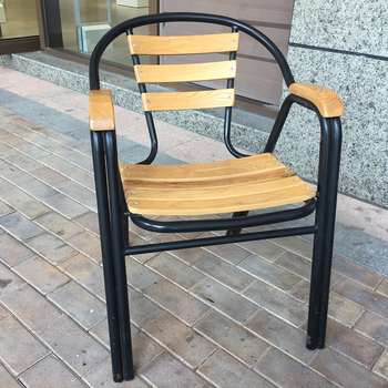 Teak Wood Aluminum Garden Bar Chair In China